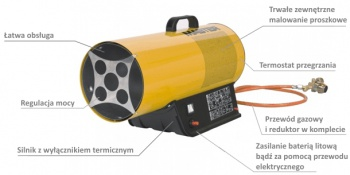 Nagrzewnica gazowa BLP 17 M DC