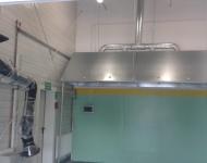 Montaż instalacji odciągu spalin - Astromet, Leszno